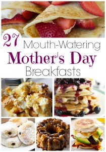 These mouthwatering mother's day breakfasts will make any mom feel like a queen! Bring Mom breakfast in bed with these easy recipes and you will make her Mother's Day the best ever! Moms aren't allowed in the kitchen on Mother's Day! Deal?