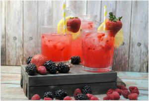 This refreshing triple berry lemonade is just what you need on a warm day, or anytime you feel like a cool and delicious drink! Such an easy recipe. The berries take lemonade to a whole new level, and the color makes for a beautiful presentation. Wow your guests with this easy beverage recipe at your next party!