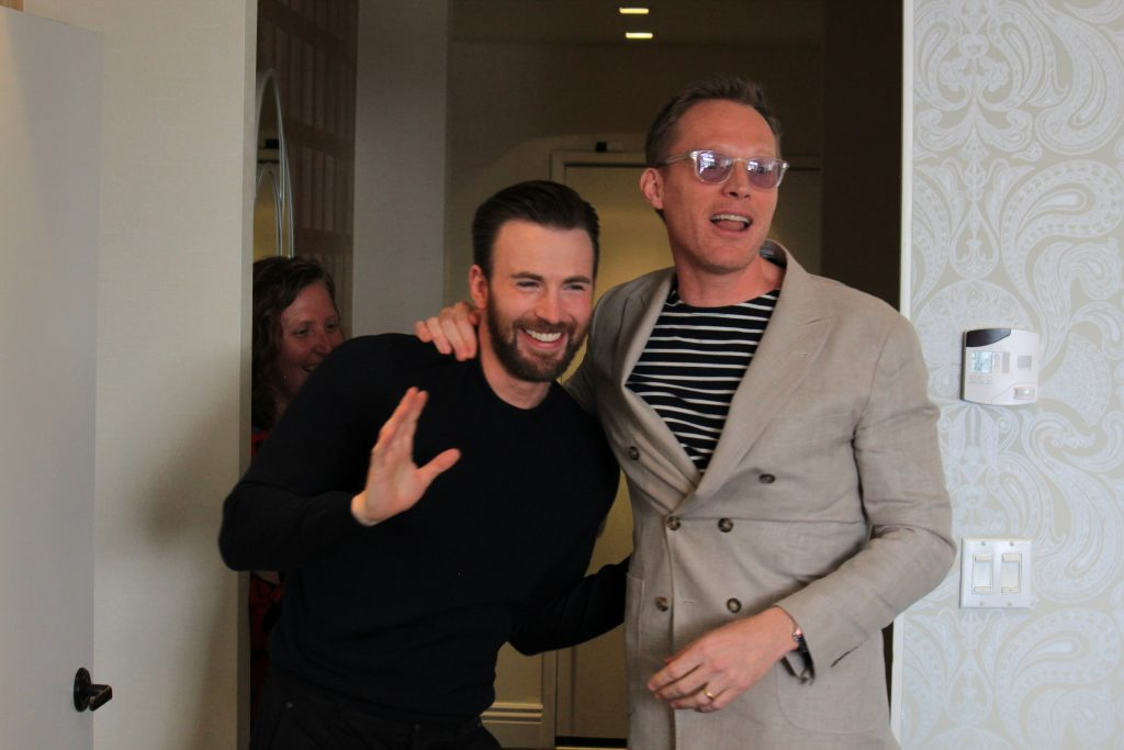 Interviewing Paul Bettany, the Vision, and Chris Evans, from Captain America Civil War