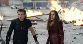 Chatting with Hawkeye and Scarlet Witch from Captain America Civil War