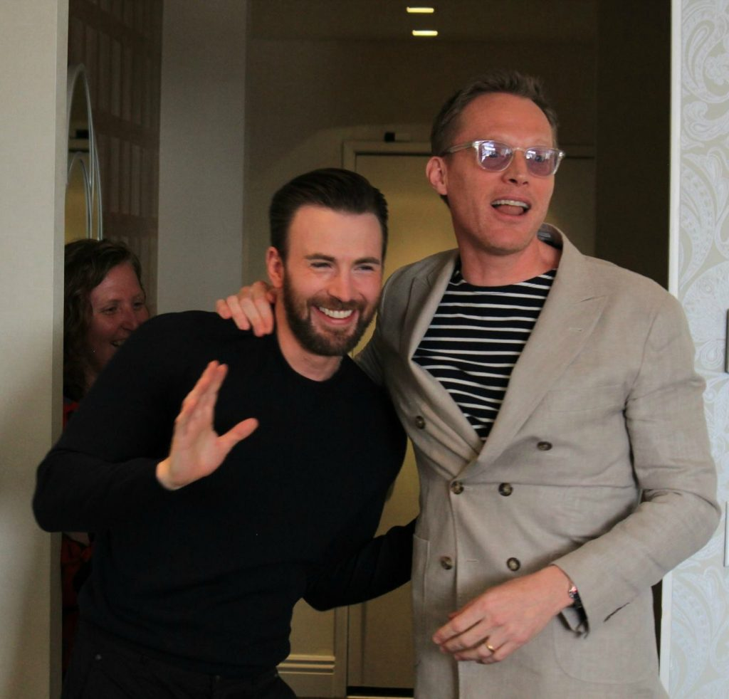 I still can't believe I was interviewing Chris Evans and Paul Bettany just a couple of weeks ago. I know. Fangirl time!