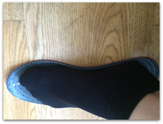 Foot Petals Sock-free Saviors are simply cushions that have a ventilated top, which keeps your feet not only comfortable, but also keeps them cool when you're doing a lot of walking. The Foot Petals cushions are treated with an antimicrobial protection that doesn't wash away, so your feet feel fresh even after a long day.