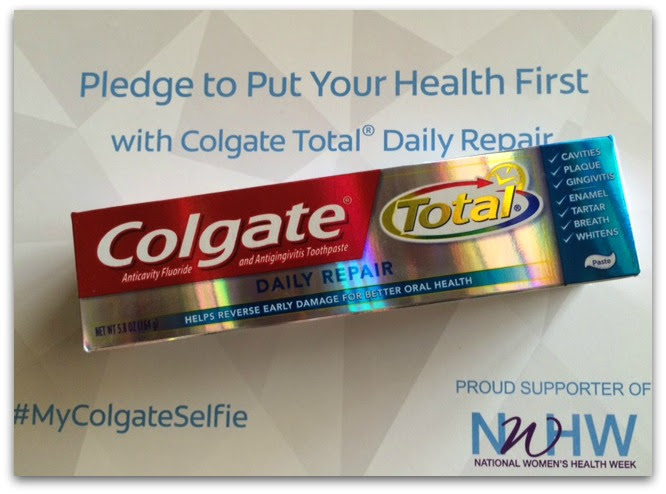 Join me in starting your new regimen with Colgate Total® products, and take a #MyColgateSelfie of you doing something healthy for you and share it online!