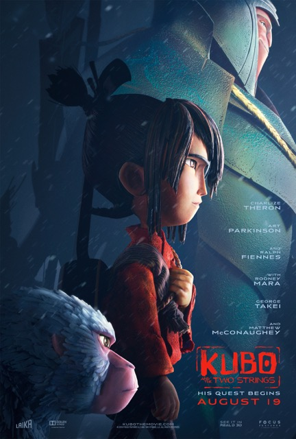In the thrilling new movie, clever and kindhearted Kubo is sustained by the strong and magical powers of a mother's love. Join Kubo on his epic quest to reunite family, uncover his legacy, and choose adventure in Kubo and the Two Strings, opening in theaters nationwide August 19, 2016!