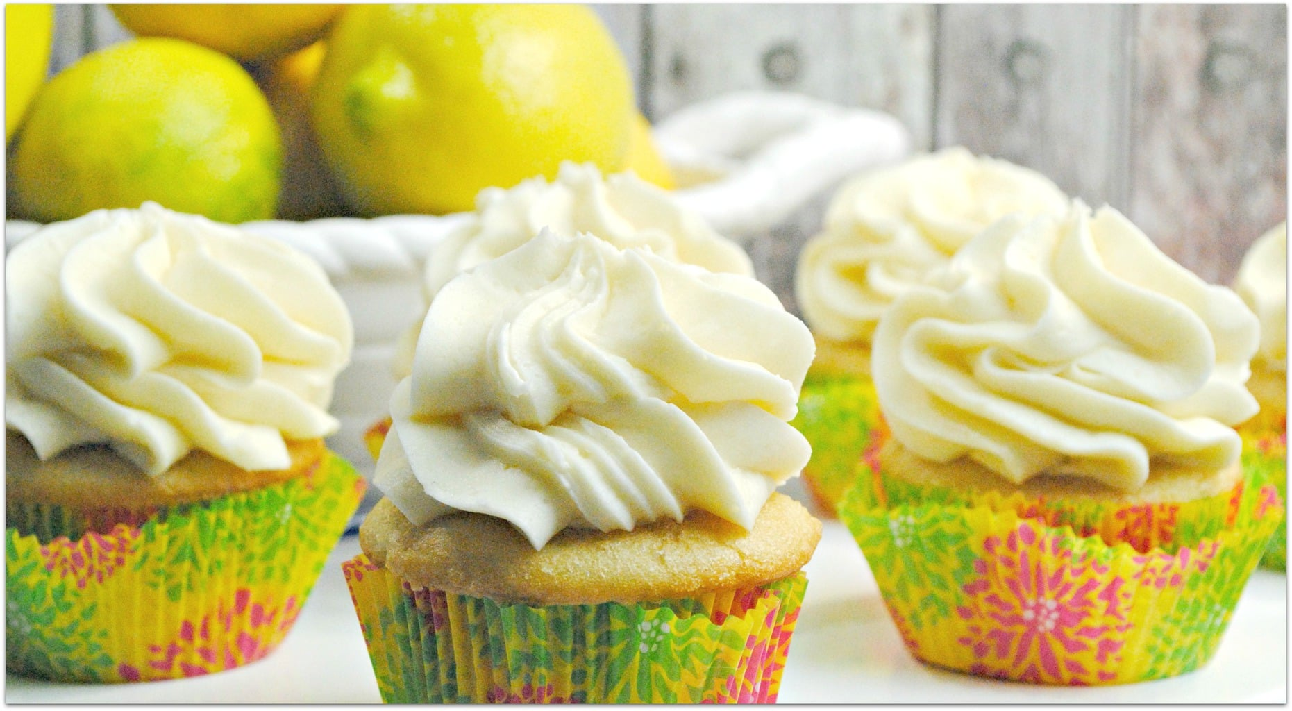 There is something about these Lemon Chiffon Cupcakes that I cannot resist. I don't know if it's the light and airy cream cheese frosting, the soft moist cupcake, or the slightly sweet lemony deliciousness, but I could eat one after every meal. This recipe is so easy, so don't go buy when you can DIY. Head to the kitchen and whip these up for your next gathering