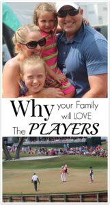Last weekend my family and I went to The PLAYERS Tournament at TPC Sawgrass in Ponte Vedra, Florida. The first thing that surprised me about this event was the number of families. I don't know why I always just assumed a golf tournament would be mostly men and not very family oriented. After attending the event and seeing it first hand, its clear that families are really important to the folks who run The PLAYERS.