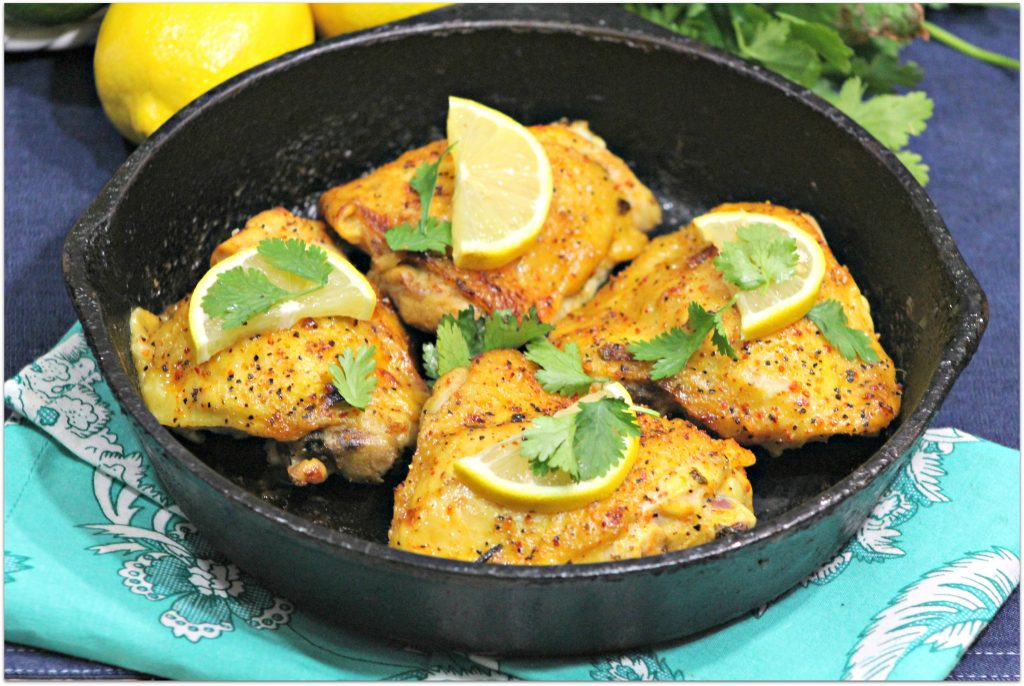 If you're looking for a recipe your whole family will love, this Lemon Lime Cilantro Cast Iron Chicken is it. Made with thighs that turn out juicy inside with a hint of crispness on the outside, everyone will want the recipe for this one! Easy enough for a family dinner, but elegant enough for company, this easy recipe will be one you'll want to make over and over again.