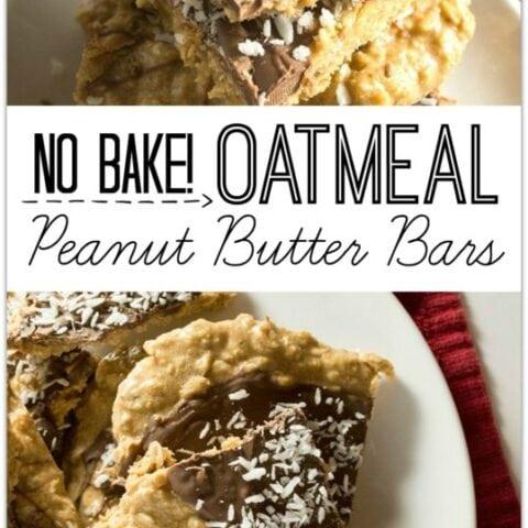 No-Bake Oatmeal Peanut Butter Bars