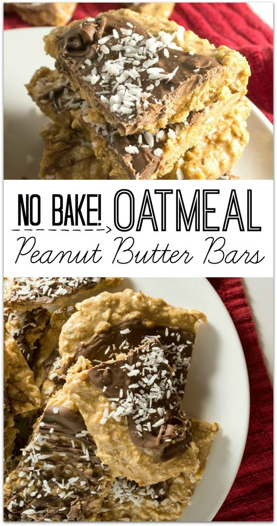 These No-Bake Oatmeal Peanut Butter Bars are one of my favorite combinations, and I love not having to heat up the kitchen on hot summer days.