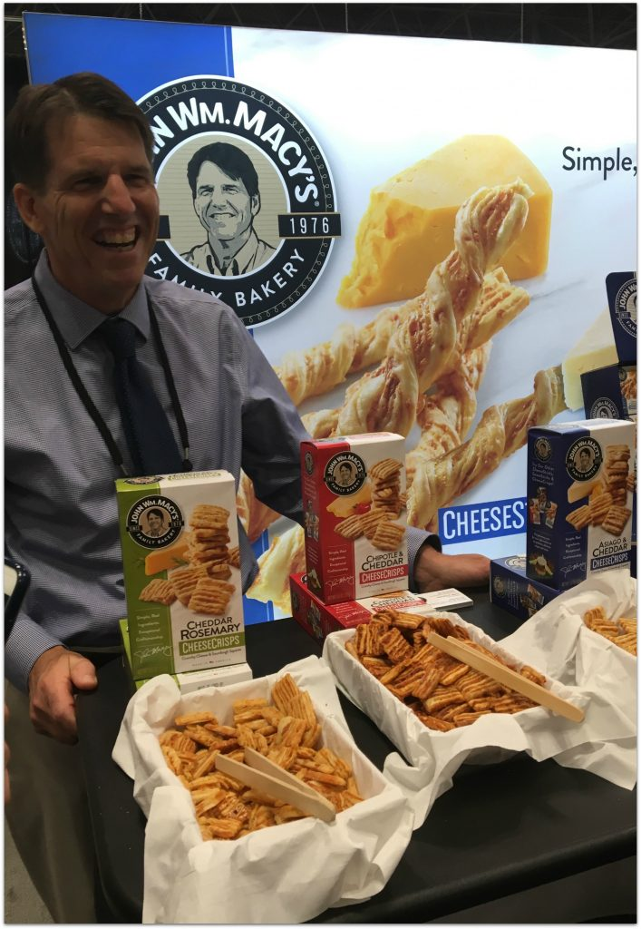 After visiting with John Wm. Macy's at the Fancy Food Show in New York City as part of the Mom Blog Tour, I immediately started thinking about how I could incorporate the crunchy goodness of the cheese crisps into my apple crisp.