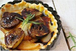 Decadent Pear, Fig & Gouda Tart