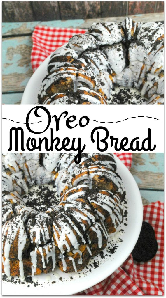 What could be better than Oreo Monkey Bread? The deliciousness of Monkey Bread paired with the yumminess of the classic favorite OREO cookie is the perfect dessert to bring to that family gathering or party with friends. This recipe is so easy! No one has to know how simple it is! Get the kids to join you in the kitchen for some cooking fun, and the result will have everyone smiling.