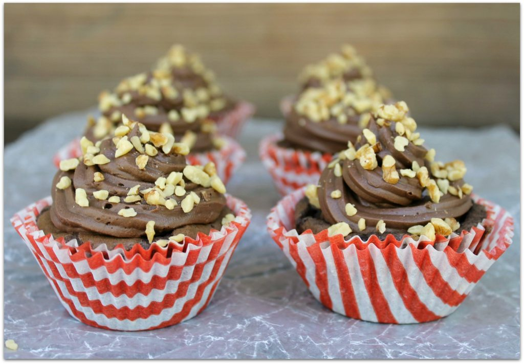 These Banana Nut Fudge Brownie Cupcakes are the perfect snack for after school. They also make a great dessert to serve after dinner or bring to parties.
