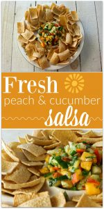 Fresh Peach and Cucumber Salsa