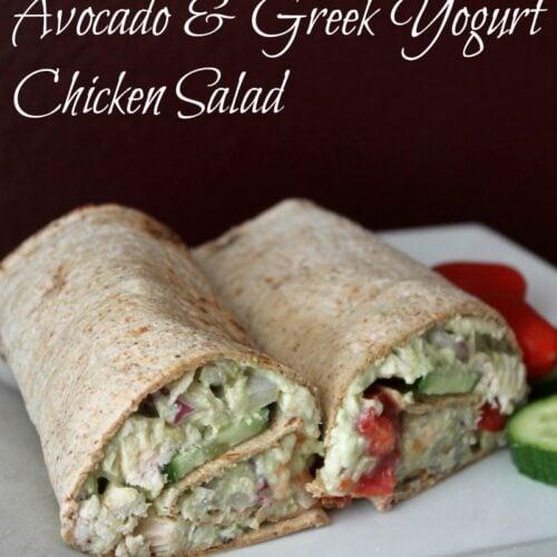 Chicken salad wrap for Weight Watchers lunch.