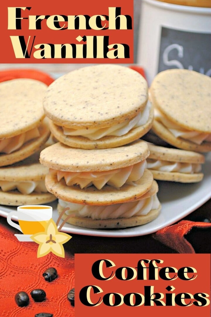 sandwich cookies on Pinterest image