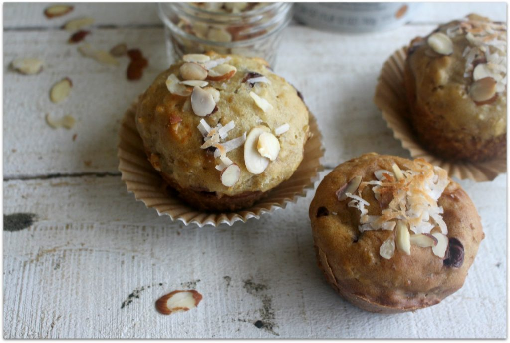 These Almond Joy Muffins have the perfect amount of sweetness and are so moist, it's the perfect way to begin your day!