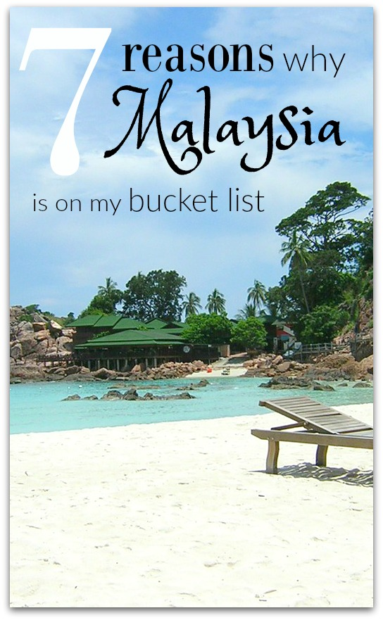 I've decided Malaysia is on my bucket list. I've always loved to travel, but only recently have been bitten by the international travel bug.