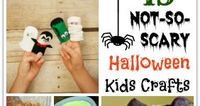 13 Not-So-Scary Halloween Kids Crafts