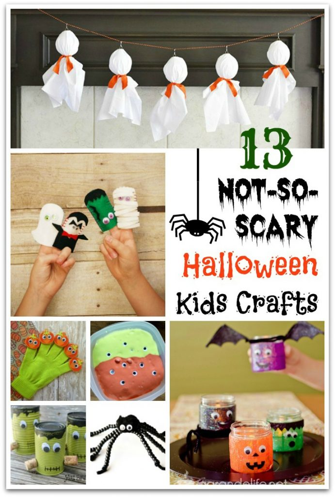 Looking for not-so-scary Halloween kids crafts? Have little ones who want to make Halloween crafts, but not ready for the creepy stuff?