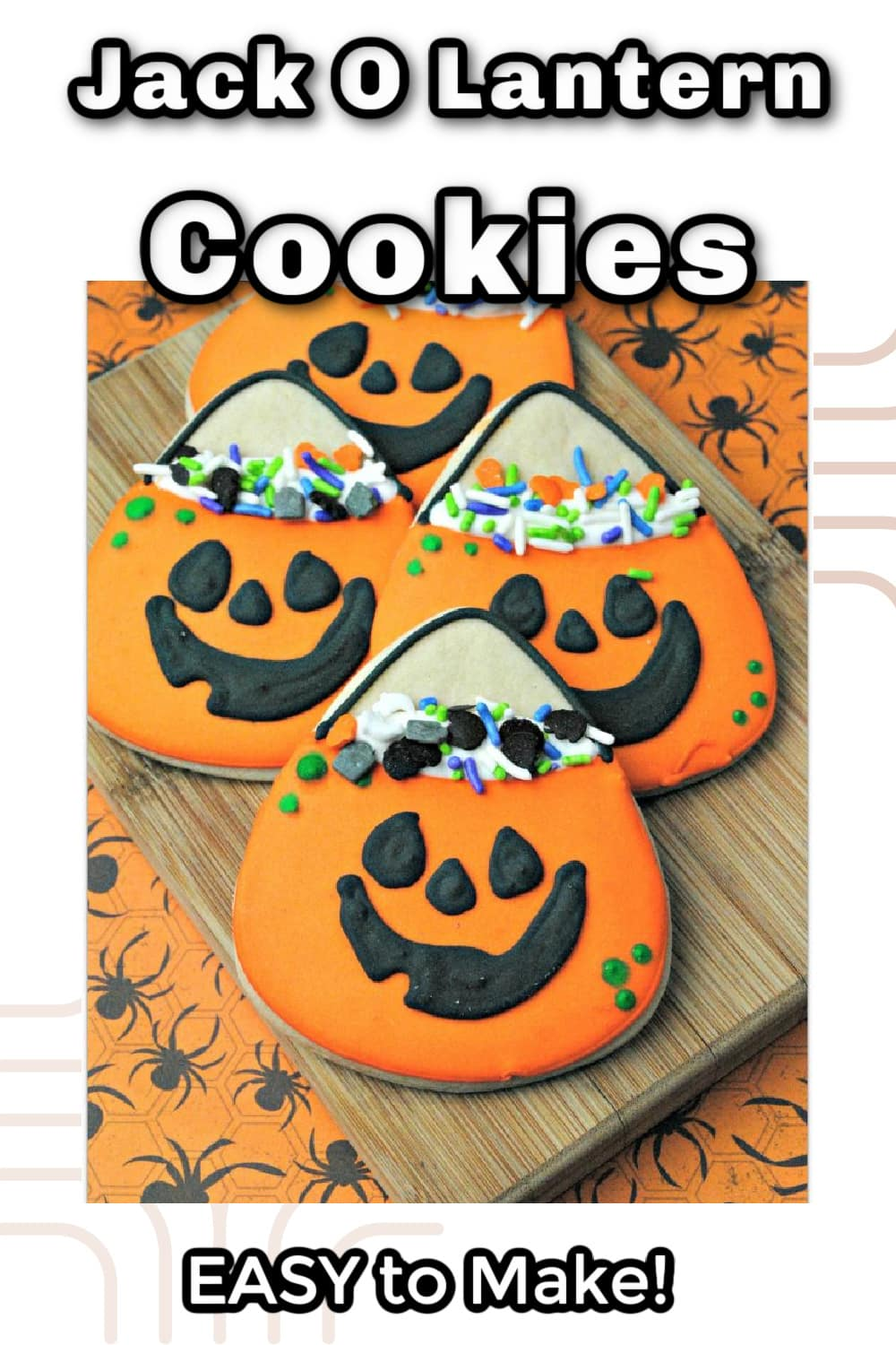 Jack O'lantern cookies are so easy to make!