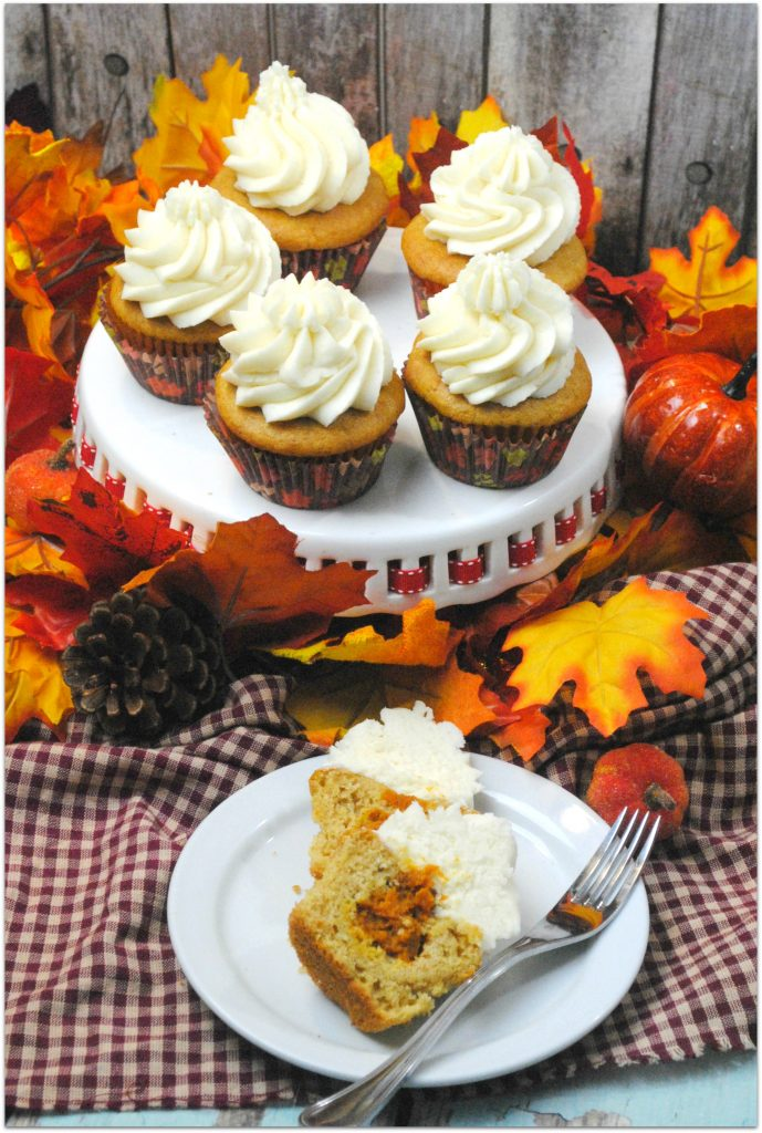 These pumpkin pie cupcakes are so delicious! Why should pumpkin pie get all the love! I would rather have a cupcake any day! As popular as pumpkin pie is, most people would tell you cupcakes are their favorite dessert.