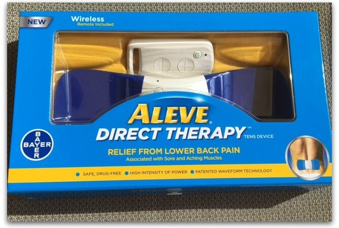 As I've been having aches and pains lately from sitting in the car too much, I was excited to discover the Aleve Direct Therapy TENS Device.