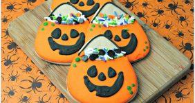 Halloween Pumpkin Candy Bag Cookies