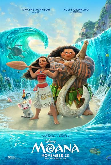 Moana is a visual masterpiece, and if that's not enough, the story is uplifting and we have a new Disney princess. And not a sappy princess of old, but a determined, daring, role-model kind of girl who will steal hearts everywhere.