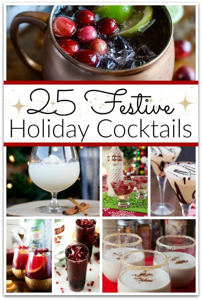 Tis' the season to be...partying with these festive holiday cocktails! I enjoy having friends over to celebrate the holidays, and I always want to have a festive atmosphere. #Cocktails #ChristmasCocktails #holidaycocktails