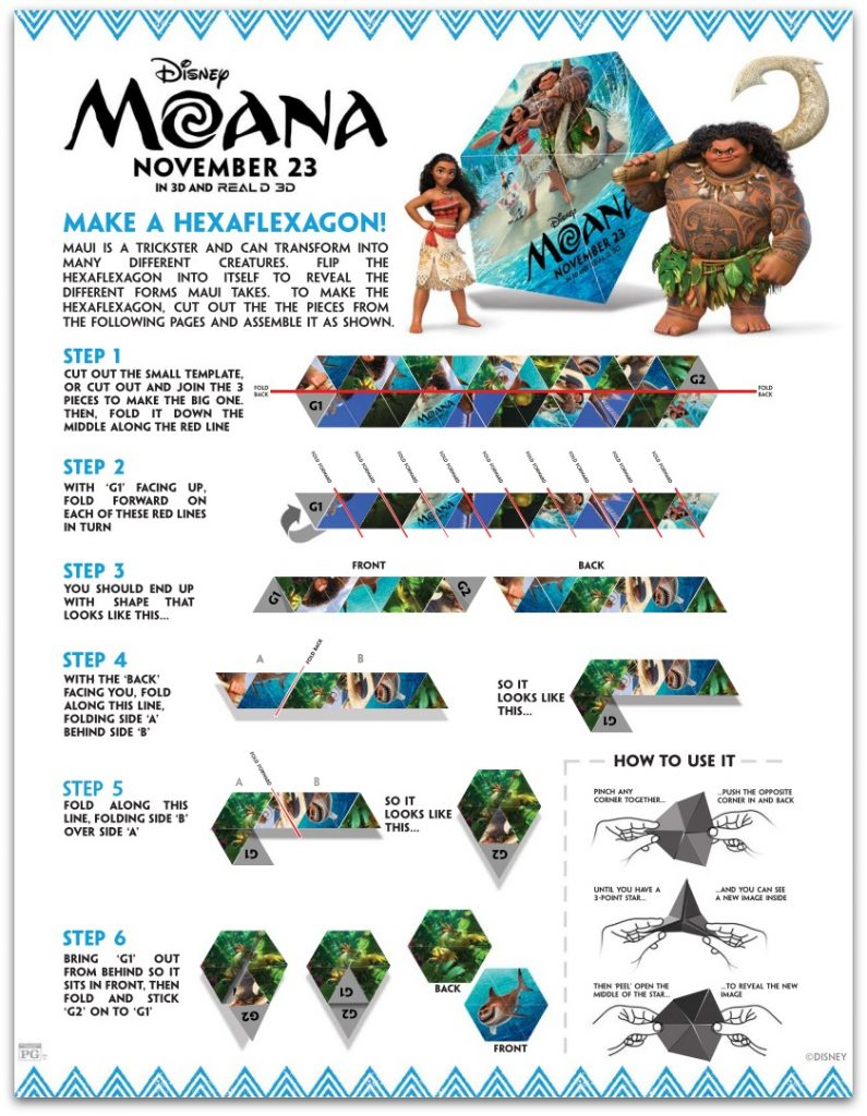 All New MOANA Activity Sheets Perfect For A Party
