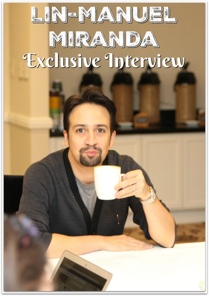 Truth be told, I freaked out a little when I heard I would be interviewing Lin-Manuel Miranda. My kids have been listening to the soundtrack from Hamilton for about a year now.