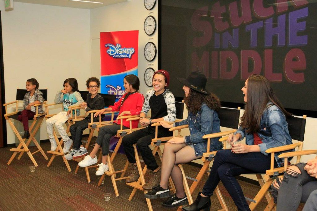 While in LA for the Moana World Premiere and interviews, we were also able to go behind the scenes with Disney Channel's Stuck in the Middle.