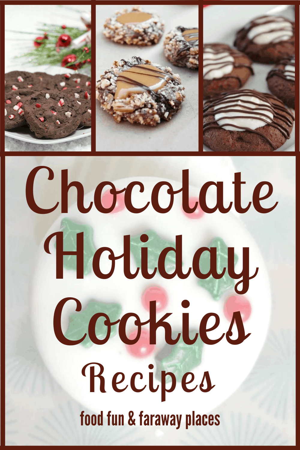 All these chocolate holiday cookies are delicious! I can resist a lot of desserts, but I have a hard time resisting chocolate cookies.