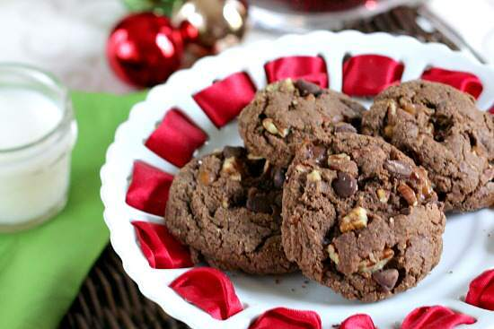 What could be better than Chocolate Holiday Cookies? I can resist a lot of desserts. Just ask my family! We go out to dinner and my husband orders 3 desserts for us to share, and I rarely have any. But if there are cookies? I can't help but have a bite. And if there is chocolate involved? Count me in!