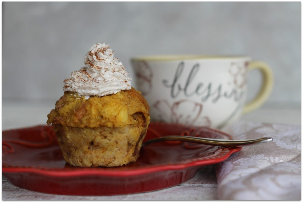Who could resist Pumpkin Bread Pudding with freshly made Pumpkin Spice Whipped Cream? 'Tis the season for pumpkin, though I love it all year long!