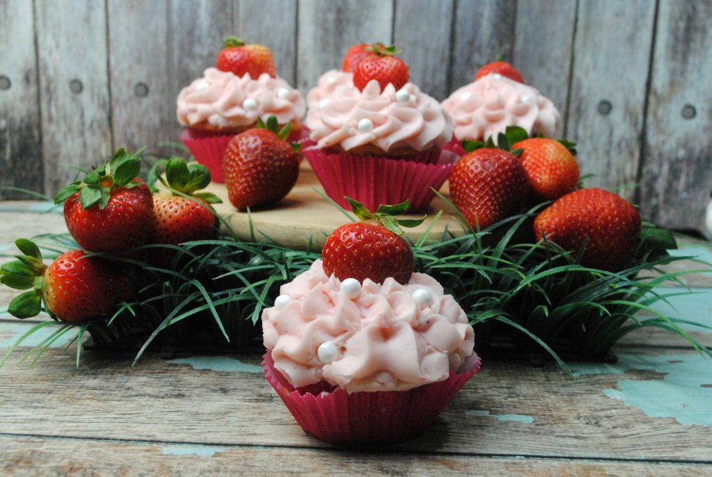 I love how well strawberries and cream cheese pair in these Strawberry Cream Cheese Cupcakes.
