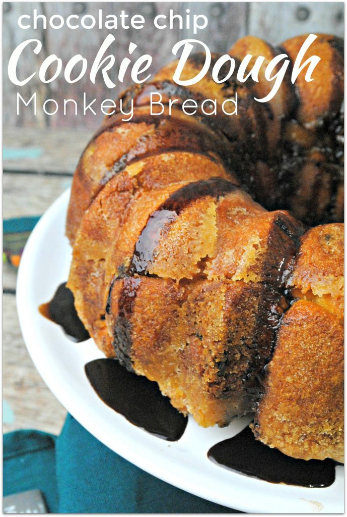 This Chocolate Chip Cookie Dough recipe is so easy to make, who doesn't love Monkey Bread? When you need to bring food to an event, this is the dessert you want to bring! Warning: it will disappear in no time!