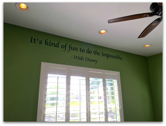 When we built an addition on our home a few years ago, I thought it would be fun to decorate with Disney-themed movie art.