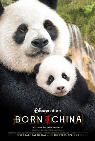 "Narrated by John Krasinski, Disneynature's new True Life Adventure film ""Born In China"" takes an epic journey into the wilds of China where few people have ever ventured."