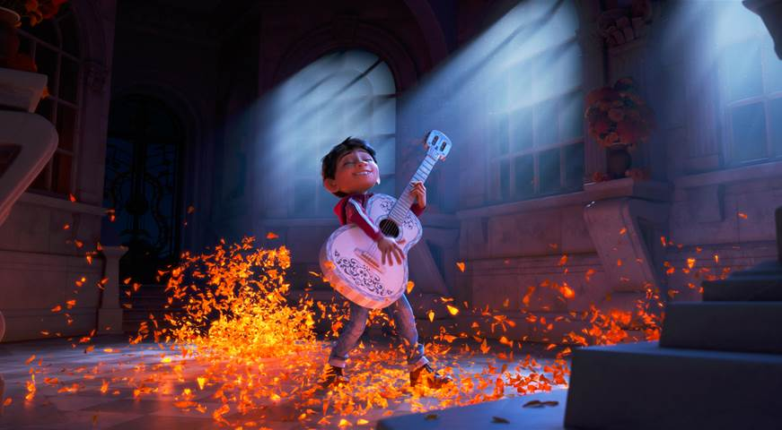 Despite his family's baffling generations-old ban on music, Miguel (voice of newcomer Anthony Gonzalez) dreams of becoming an accomplished musician like his idol, Ernesto de la Cruz (voice of Benjamin Bratt). Desperate to prove his talent, Miguel finds himself in the stunning and colorful Land of the Dead following a mysterious chain of events.