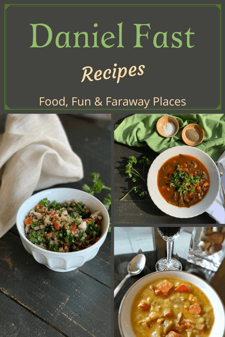 Daniel Fast lunch and dinner recipes