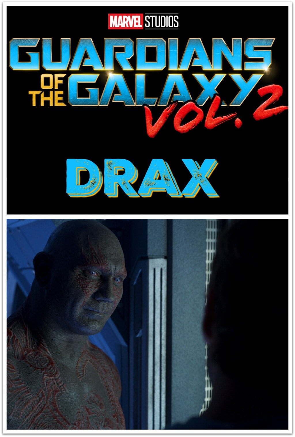 Who's excited about seeing Dave Bautista as Drax in Guardians of the Galaxy Vol. 2? This movie is going to be so amazing!