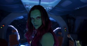 Sitting a foot away from Gamora, in full make-up and costume, was one of the best experiences of my life. This chick is a serious badass; fit, gorgeous, and an attitude to match.