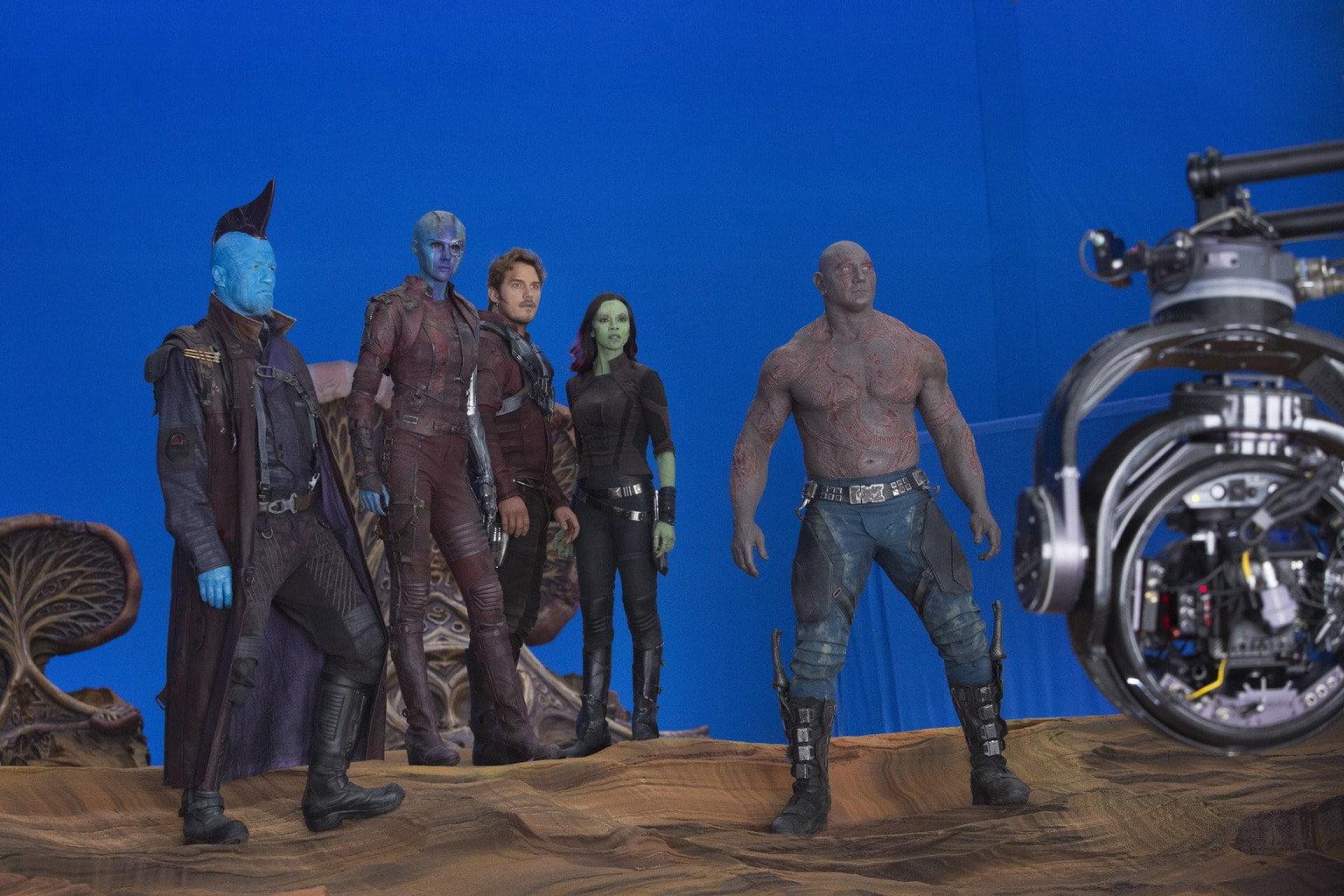 Who's excited about seeing Karen Gillan, Nebula, in Guardians of the Galaxy Vol. 2?
