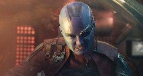 "Exclusive Chat with Karen Gillan ""Nebula"" from Guardians of the Galaxy Vol 2"