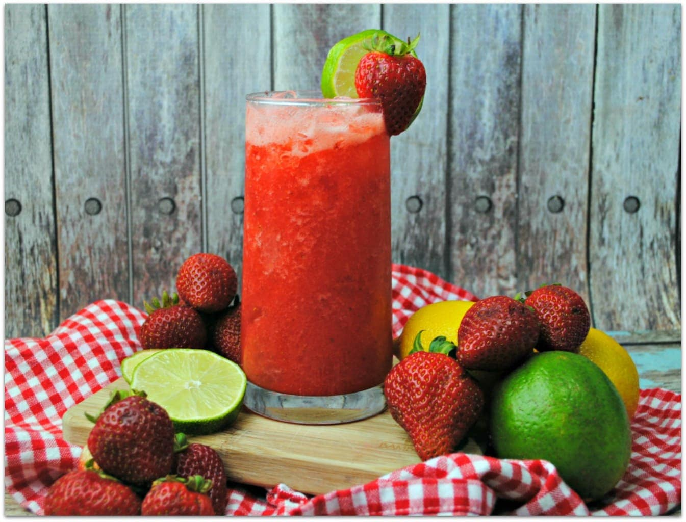 This Strawberry Agua Fresca is the perfect drink to cool you off on a hot day. It may still be pretty cold where you are but here in Florida, it's strawberry season!