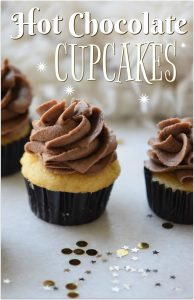 These hot chocolate cupcakes are absolutely to die for. What could be better than hot chocolate with a cupcake? Hot chocolate IN a cupcake!