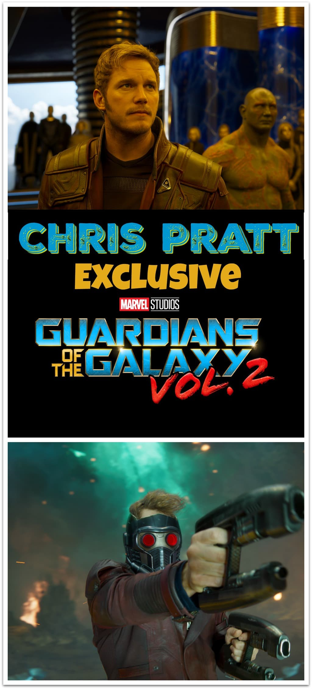 Who's excited about seeing Chris Pratt in Guardians of the Galaxy Vol. 2?