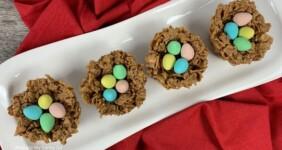 Peanut Butter Nests Easter Dessert.
